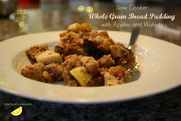 Recipe: Slow Cooker Whole Wheat Bread Pudding with Apples and Walnuts ...