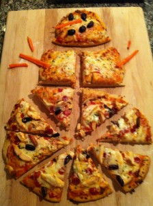 A Fun Snow Day Activity or Winter Weekend Meal: Snowman Pizza (Fresh Start Nutrition)